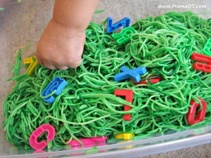 "Messy play is one idea from the book, ""From Rattles to Writing: A Parent's Guide to Hand Skills"". It's a total go-to resource for parents and ANYONE who works with kids ages birth to five."