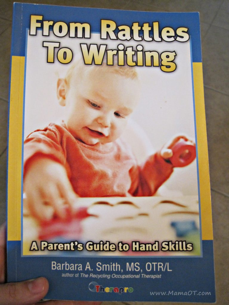 "This book, ""From Rattles to Writing: A Parent's Guide to Hand Skills"", is a total go-to resource for parents and ANYONE who works with kids ages birth to five."